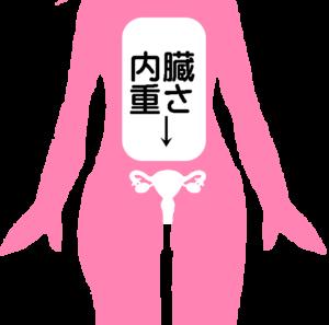 内臓が下垂 子宮を圧迫
